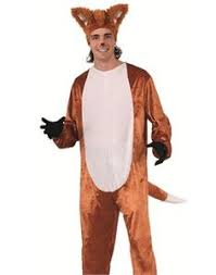 Womens Fox Halloween Costume Fox Jumpsuit Men Women Fox Tail Pockets