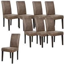 m chaises albus lot de 8 chaises de salle à manger vintage marron achat