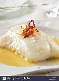 cuisine basque bacalao salted cod cuisine basque country stock photo