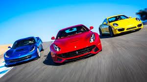 porsche 911 vs corvette 2014 f12 berlinetta vs 2014 chevrolet corvette c7 vs 2013