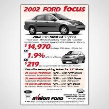 avalon ford focus ad design troy templeman design