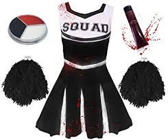 Zombie Cheerleader Costume Child Zombie Cheerleader Fancy Dress Costume Girls Zombie
