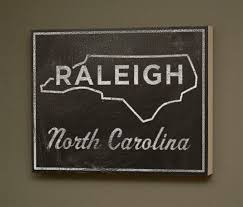 nc state cus map raleigh box town print 11 x 14 carolina