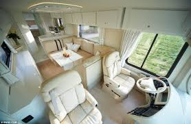 motor home interiors 1 2 million luxury caravan by volkner mobil
