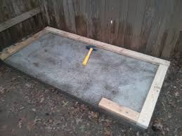 Laying Patio Slabs Laying A Foundation For A Tool Shed Or Children U0027s Playhouse 6
