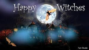 halloween flying witch background halloween animated with sound wallpapers wallpapersafari