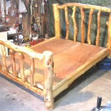 Wood Log Bed Frame Log Beds For White Bed