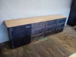 french industrial sideboard creates the perfect recipe for