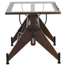 Glass Top Drafting Drawing Table Studio Designs Aries Glass Top Drafting Table Sonoma Brown Clear