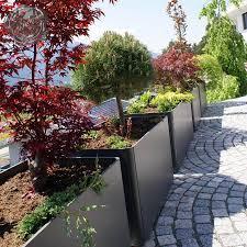 large rectangular outdoor planter pot xl5 long backyard modern