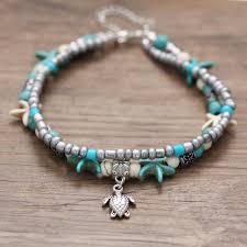 beaded ankle bracelet images Beach anklet ankle bracelet turtle anklet starfish anklet jpg