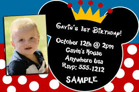 free printable mickey mouse 1st birthday invitations images