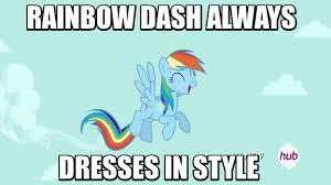 Rainbow Dash Meme - 610584 animated clothes dress g3 gala dress hub logo image