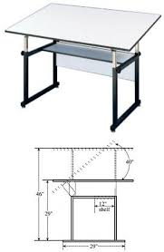 Neolt Drafting Table Alvin Workmaster Drafting Table Black Base With 37 5x60 Top Wm60 3