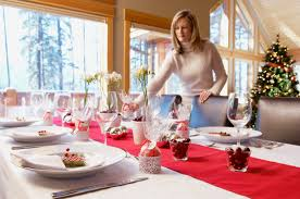 setting a table pantone color inspiration holiday red