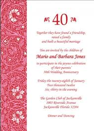 wedding invitations jacksonville fl best compilation of 40th wedding anniversary invitations which