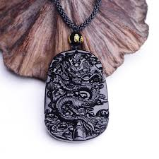 necklace pictures free images Natural black obsidian baby buddha pendant necklace free jpg