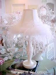 rachel ashwell shabby chic white ruffle hobnail lamp shabby chic