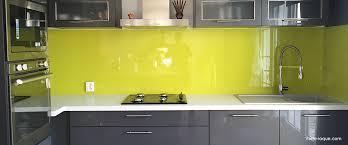 credence en verre trempé pour cuisine verre laqué sur mesure couleurs au choix professionnel au juste