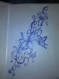 butterfly flower drawing tattoo design pictures to pin on