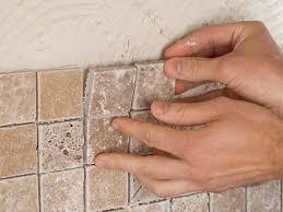 how to install tile backsplash in kitchen installing tile in bathroom