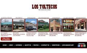 los patios menu los toltecos mexican cusine