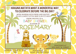 Baby Shower Invitations Ebay 6 Awesome Photos Of Lion King Baby Shower Invitations Davidhowald