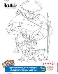 kubo strings coloring pages getcoloringpages
