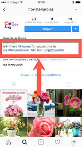 how to write a post for an instagram sweepstakes