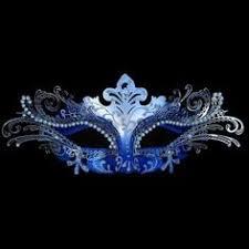blue masquerade masks blue silver white masquerade mask with various embellishments