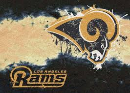 Nfl Area Rugs Angeles Rams Fade Logo Area Rug Nfl Football Mat