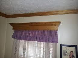 Windows Valances Interior Decorative Wooden Window Valances With Horizontal Blind