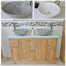 Bathroom Vanity Unit Without Basin Oak Bathroom Vanity Unit Quartz Top Cabinet Twin Marble Bowl Basin