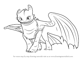 learn draw toothless train dragon 2