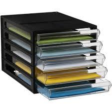 Photo Desk Organizer by J Burrows Desktop File Storage Organiser 5 Drawer Black Officeworks