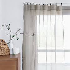 Pinch Pleated Sheer Draperies Sheer Linen Window Panels From West Elm Pleated Curtains Sheer