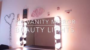 diy vanity mirror with lights zmeliisabeauty youtube
