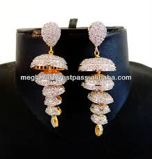 fancy jhumka earrings style diamond jhumka earrings american diamond earrings