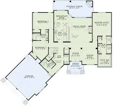 Craftsman Ranch Floor Plans House Plans 4 Bedroom 25 Bath House Concept