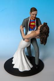 custom wedding cake toppers and groom superman custom wedding cake topper concept complete with