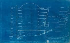 wall blueprints illuminating details from frank lloyd wright u0027s guggenheim blueprints