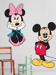 mickey mouse wall decorations shenra com 18 mickey and minnie wall decals disney mickey minnie mouse wall