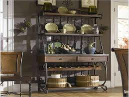 Bakers Racks Metal Kitchen Wine Racks Kitchen Bakers Rack With Drawers Bakers