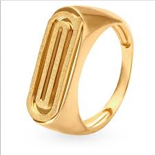 men golden rings images Tanishq 18kt yellow gold finger ring for men 502617ferraa00 rs png