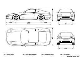 ferrari enzo sketch ferrari 456 gt blueprints pinterest ferrari 456 ferrari and