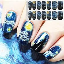 amazon com bluezoo full nail art sticker van gogh u0027s starry night