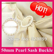 chair sash buckles wholesale 100pcs lot 50mm outer pearl belt buckle chair sash