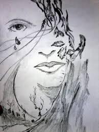 cry drawing by ashish jha
