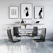 kitchen furniture set amazon com 5 home dining kitchen furniture set table