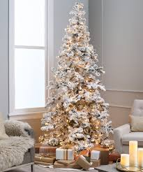Fully Decorated Artificial Christmas Trees Flocked Tree Heavy Layered Spruce Artificial Christmas Tree Color